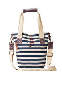 Personalized Nautical Wine Tote w/ Wine Opener