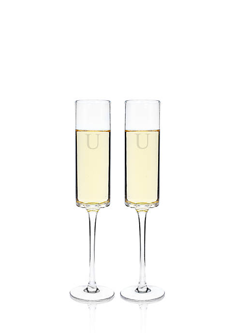 Cathy's Concepts Personalized Contemporary Champagne Flutes