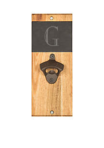 Cathy's Concepts Personalized Slate and Acacia Wall Mount Bottle Opener