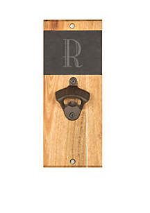 Personalized Slate and Acacia Wall Mount Bottle Opener