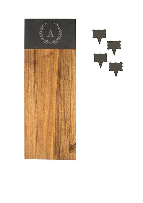 Cathy's Concepts Acacia & Slate Charcuterie Serving Board