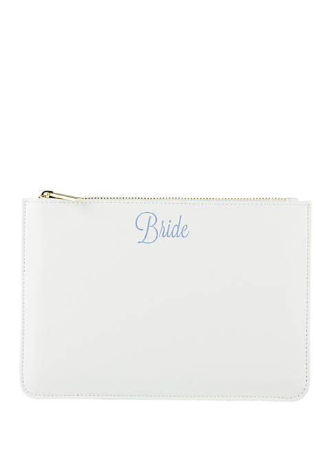 Cathy's Concepts Bride White Vegan Leather Clutch