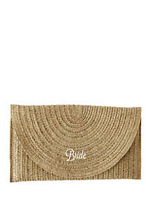 Cathy's Concepts Bride Straw Envelope Clutch