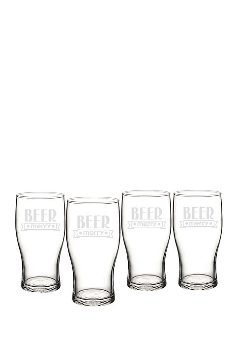 Cathy's Concepts 19 oz. Beer Merry Pilsner Glasses