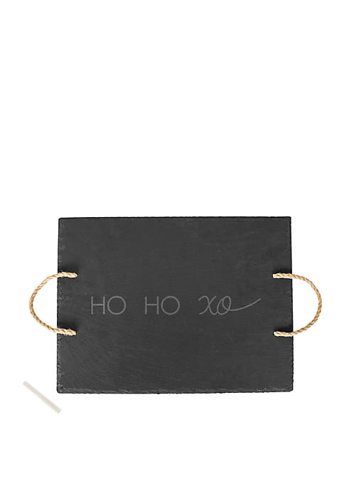 Cathy's Concepts HO HO XO Slate Serving Tray