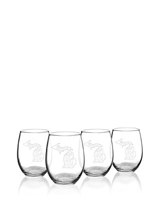 ebb901dfaab Cathy's Concepts My State Stemless Wine Glasses - Michigan