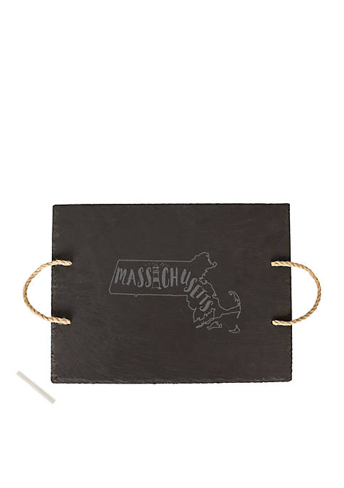 My State Slate Tray - Massachusetts