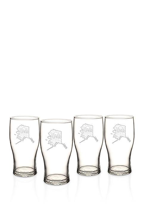 My State Beer Pilsner Glass Set - Alaska