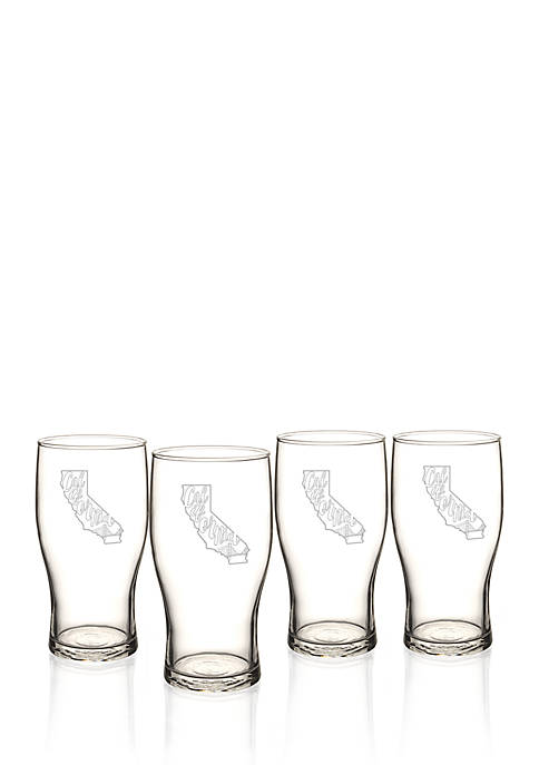 Cathy's Concepts My State Beer Pilsner Glass Set
