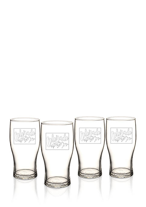 My State Beer Pilsner Glass Set - Colorado