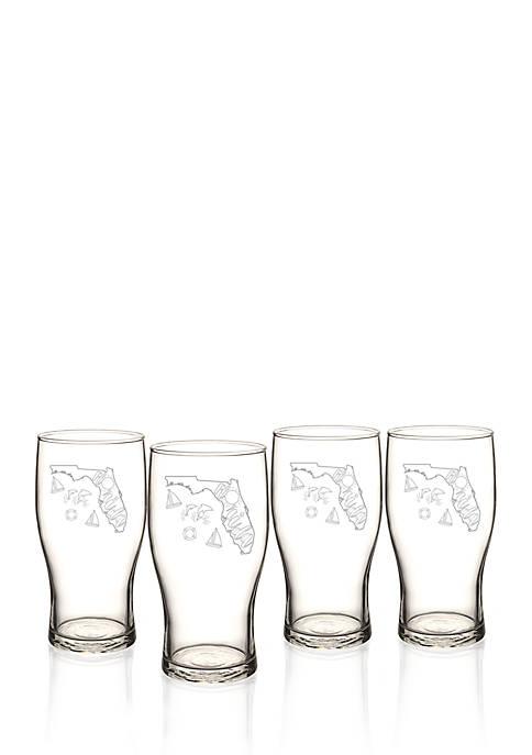 My State Beer Pilsner Glass Set - Florida