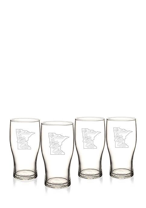 My State Beer Pilsner Glass - Minnesota