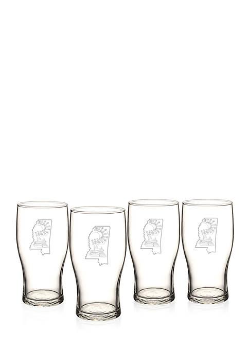 My State Beer Pilsner Glass - Mississippi