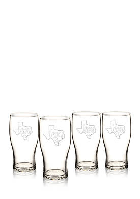 My State Beer Pilsner Glass - Texas