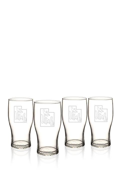 My State Beer Pilsner Glass - Utah