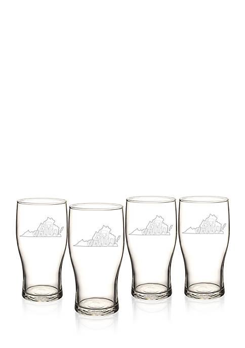 My State Beer Pilsner Glass - Virginia