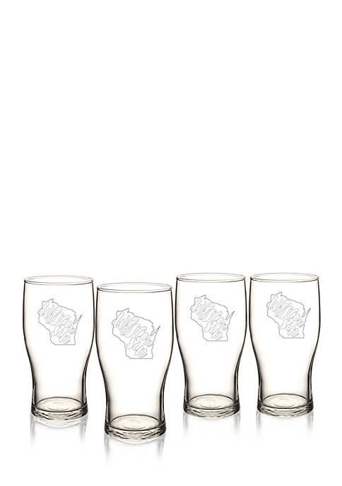 My State Beer Pilsner Glass - Wisconsin