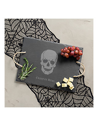 Cathy S Concepts Creep It Real Skull Slate Serving Tray Belk