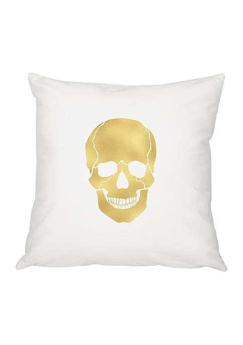 Cathy's Concepts Gold Skull Throw Pillow