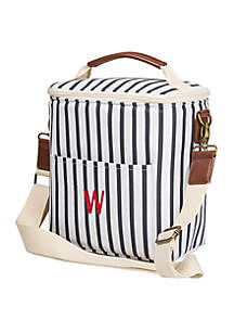 Personalized Navy Stripe Lunch Cooler