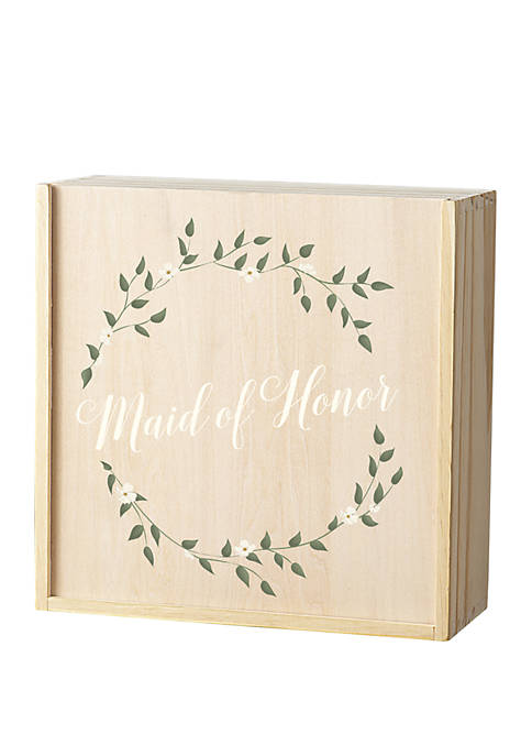 Cathy's Concepts Floral Maid of Honor Gift Box