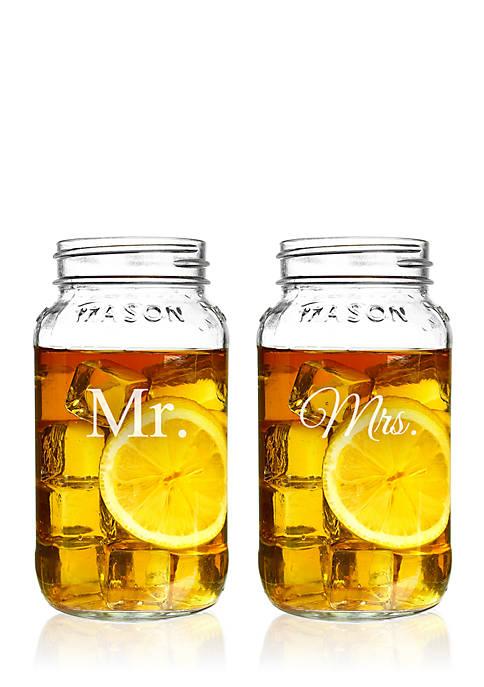 Cathy's Concepts Mr. & Mrs. 26-oz. Mason Jar