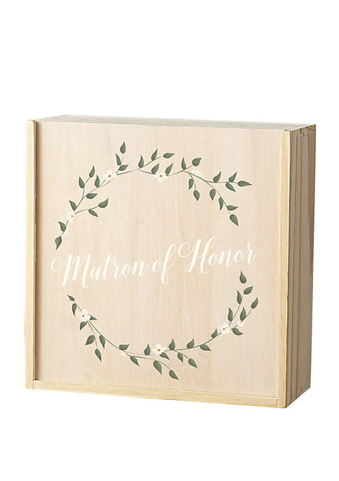 Floral Matron of Honor Gift Box Set