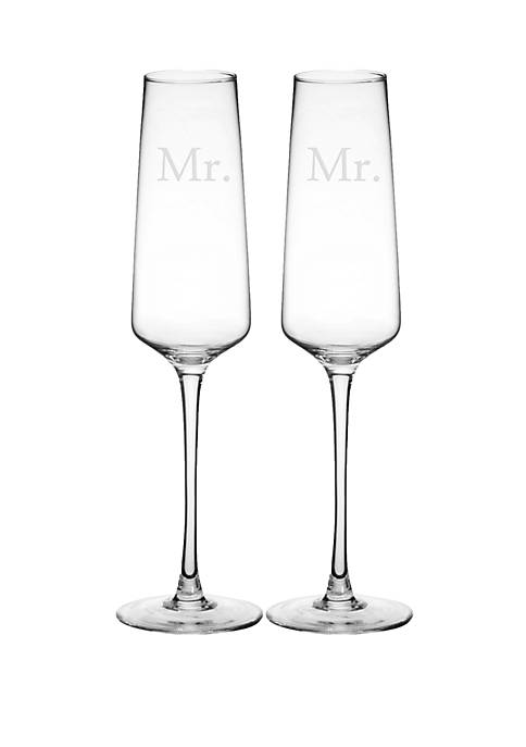 Mr. and Mr. Wedding Champagne Glasses