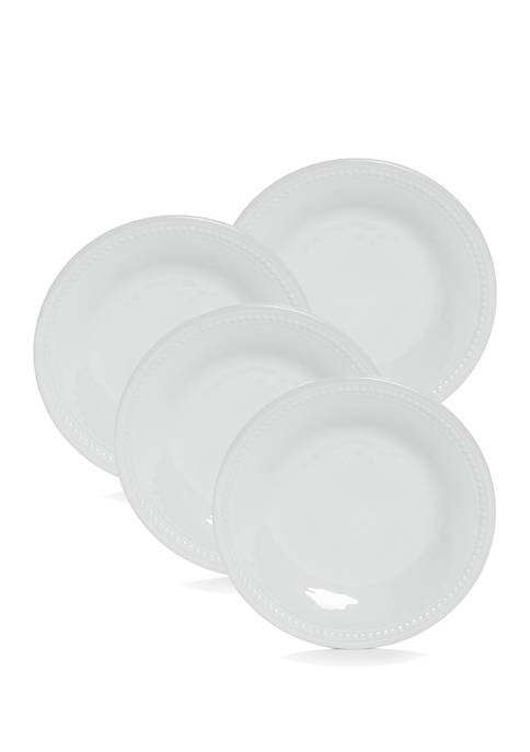 Home Accents® Melamine White Beaded Edge Salad Plate,