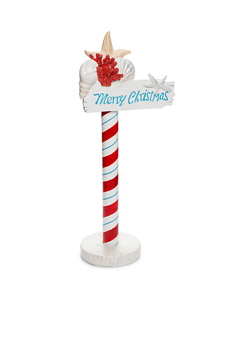 Home Accents® Santa Claws Coastal Merry Christmas Sign