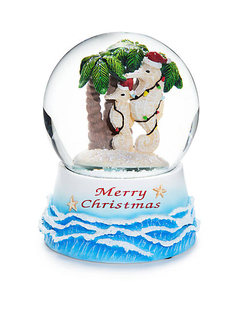 Home Accents® Santa Claws Silly Seahorses Snow Globe