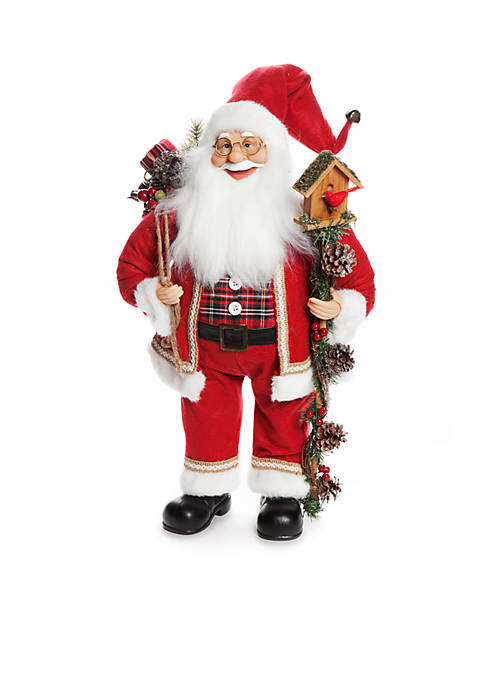 Home Accents® Country Christmas 2-ft. Bird House Santa