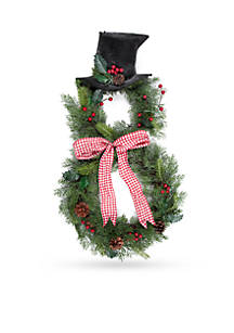 home accents country christmas snowman wreath - Colorado Country Christmas