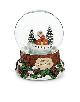 0e9dbf8efd38 Country Christmas Barn Scene Snow Globe