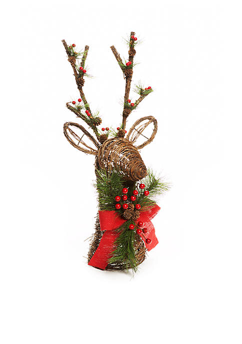 Home Accents® Country Christmas Twig Deer Head Tree