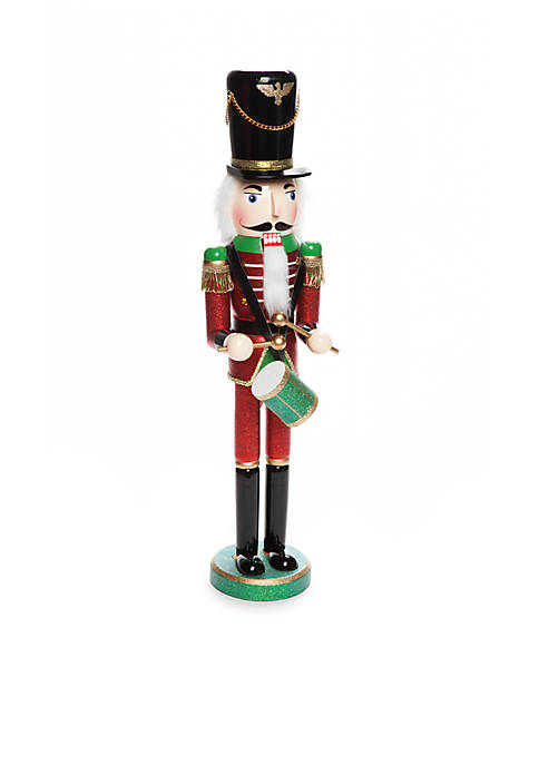 Home Accents® Santa Stop Here 24-in. Drummer Nutcracker