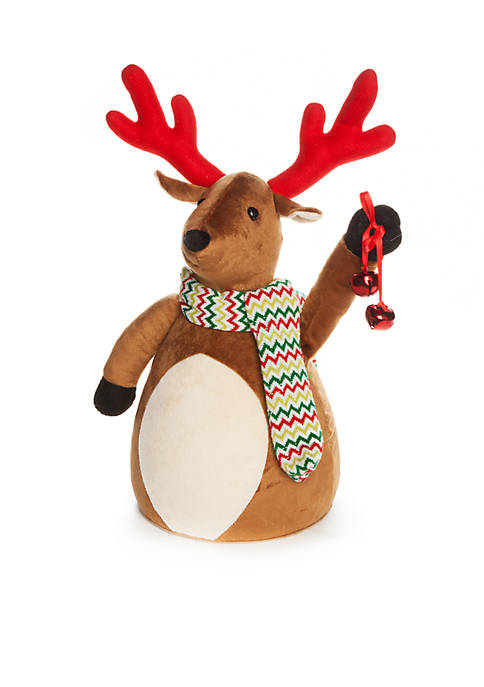Home Accents® Santa Stop Here Plush Reindeer Tree