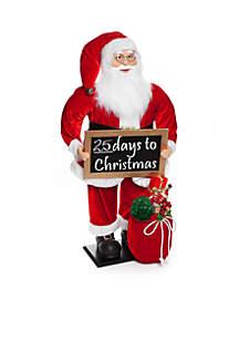 Santa Stop Here Christmas Countdown Santa