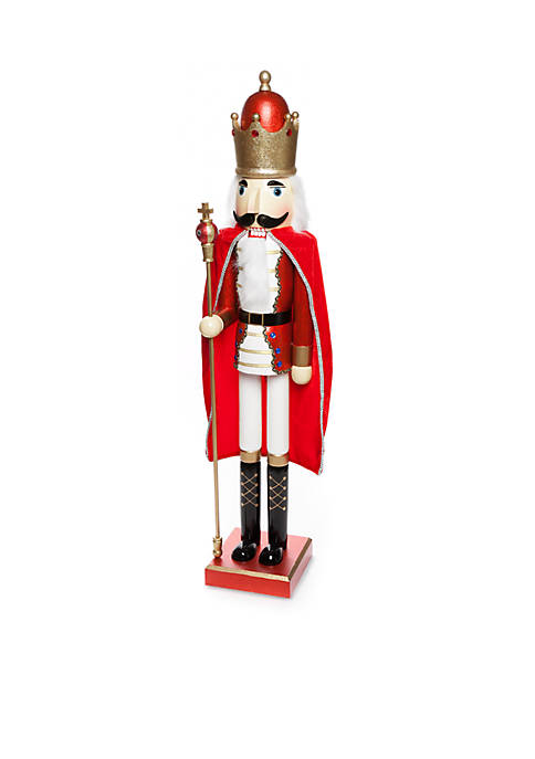 Home Accents® Santa Stop Here Christmas King Nutcracker