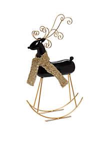 Joyeux Noel Rocking Deer Decor