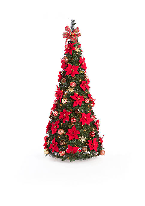 Home Accents® 6-ft. Pre-Lit Pre-Decorated Pop-Up Tree