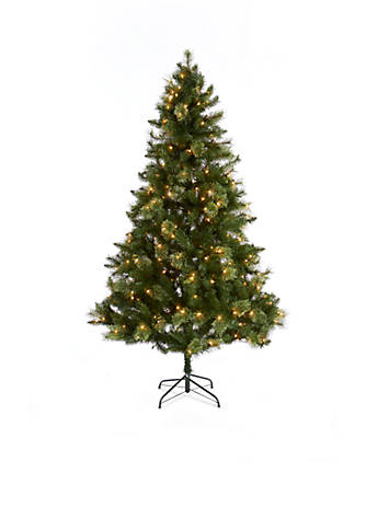 Home Accents® 7-ft. Pre-Lit Mixed Tip Clear Lights Fraser Fir Tree ...