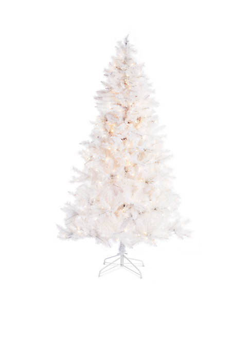 Home Accents® 7-ft Pre-Lit White Fraser Fir Tree