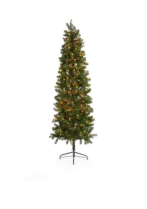 Home Accents® 7.5-ft Pre-Lit Slim Alleghany Pine Tree
