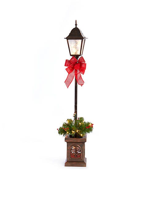 Home Accents® 4-ft. Lamp Post with Ribbon