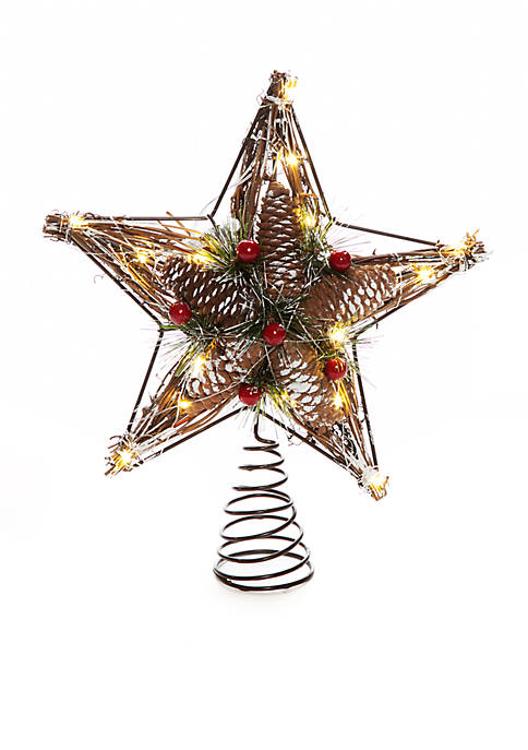 Home Accents® Country Christmas Twig Star Tree Topper
