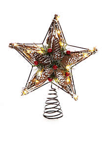 Country Christmas Twig Star Tree Topper