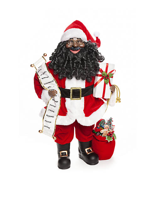 Home Accents® Santa Stop Here Santa with List