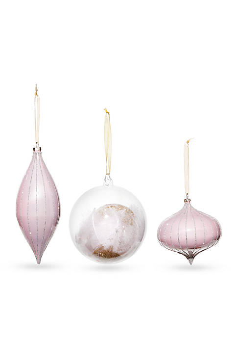 Home Accents® All That Glitters Blushing Ornament, Set