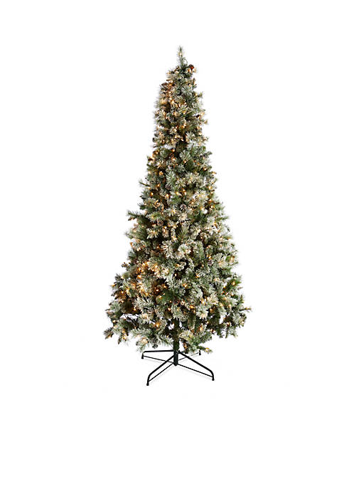 Home Accents® Pre-Lit Flocked Breckenridge Fir Tree with